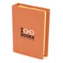 hard back flag book orange