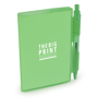 Notebook and pen green