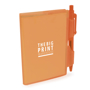 notebook and pen orange