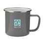 Enamelled mug grey