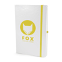 A5 white notebook yellow