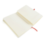 A5 white notebook red open