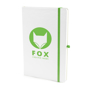 A5 white notebook green