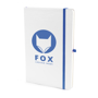 A5 white notebook blue