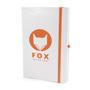 A5 white notebook orange