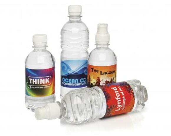 bottles of water - various
