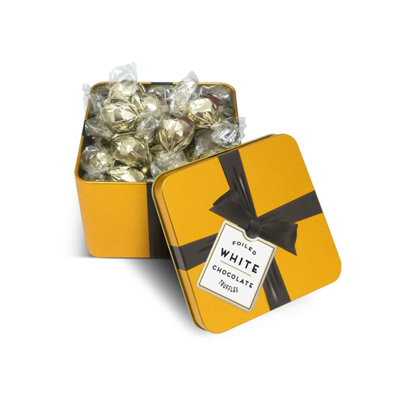 Gold Square tin - foiled truffles