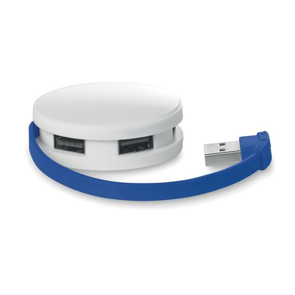 Round usb hub blue