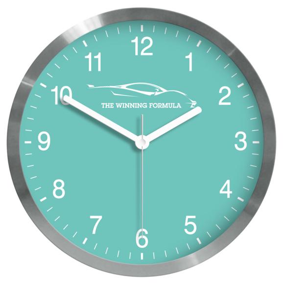 Paris steel wall clock