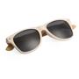 Eco bamboo sunglasses folded