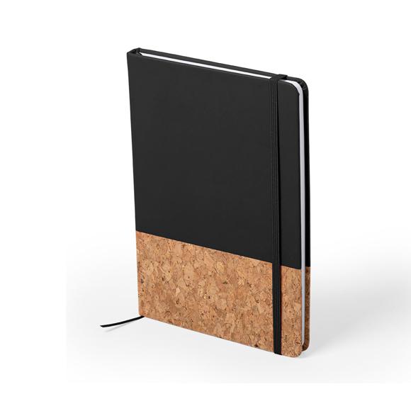 Cork pu notebook black