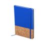 Cork pu notebook blue