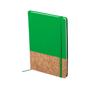 Cork pu notebook green
