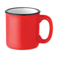 Vintage ceramic mug red