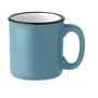 Vintage ceramic mug blue