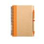 Eco notebook pen orange