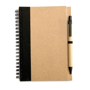 Eco notebook pen black