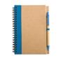 Eco notebook pen blue