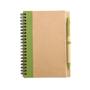 Eco notebook pen green