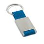 Webbing keyring blue