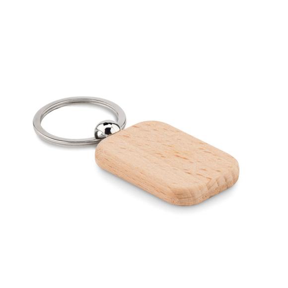 Picture of Rectangular wood keyring