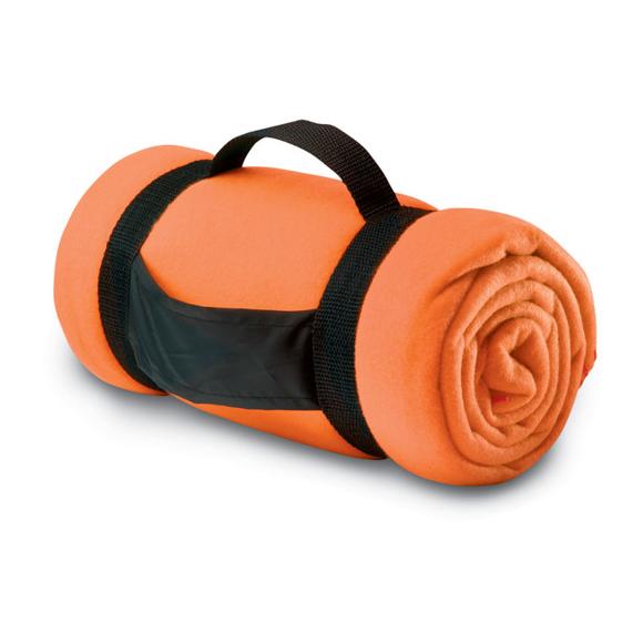 fleece blanket orange