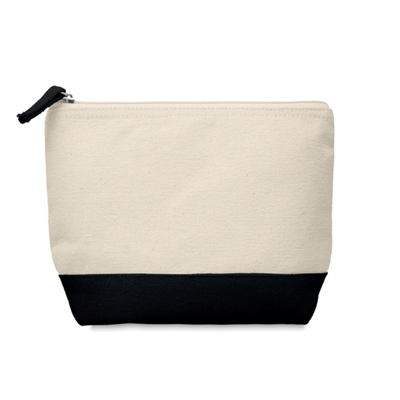 Cotton cosmetic pouch black