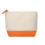 Cotton cosmetic pouch orange