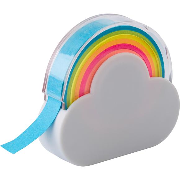 Rainbow memo dispenser