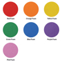 Foam colour chart