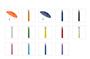4092 telescopic umbrella colours