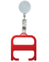 hygiene handle roller red