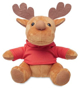 SOFT TOY REINDEER red
