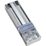 Glitter candles silver