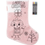 Christmas stocking with crayons 2