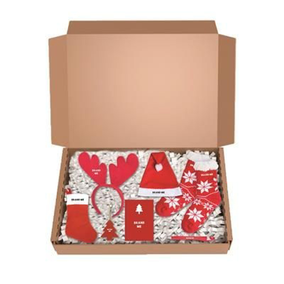 Picture of Christmas gift mailing box