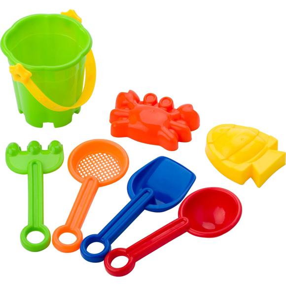 Platic beach bucket set
