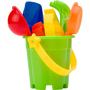 Platic beach bucket set green