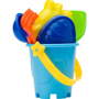 Platic beach bucket set blue